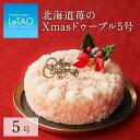 【 ポイント10倍 11/6まで】 クリスマスケーキ ギフト プレゼント スイーツ ルタオ 【北海道苺のXmasドゥーブル5号】 …