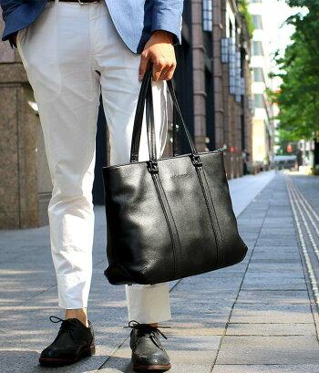 トートバッグビジネスバッグメンズ本革出張レディースビジネストートバックビジネストートファスナー付き鞄人気A4旅行通勤通学