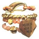 セール CATHAMMILL 可愛いブレスレットセット ゴールドカラー ハートブレスレッド キャットハミル gold dream tassel bracelet set ド…