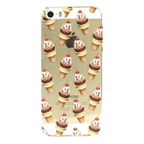 skinnydip スキニーディップ iPhone 5 5S SE Ice Cream Case アイス ソフトクリーム 柄 総柄 ハードカバー アイス柄 ソフトクリーム柄 アイスクリーム柄 iphone5ケース iphone5sケース iphoneseケース おしゃれ プラスチック 液晶保護フィルム セット 海外ブランド