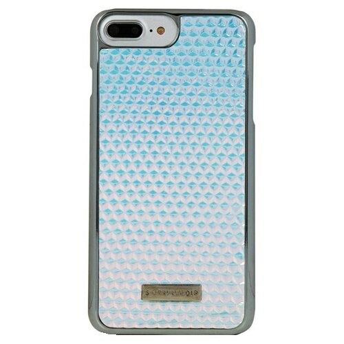 skinnydip iphone8plusケース IPHONE7PLUSケース スキニーディップ IPHONE 7 PLUS DRUZY CASE おしゃれ 水色 銀色 綺麗 かわいい スマホケース 可愛い プラスチック ハードケース オシャレ シルバー 刻印 ロゴ 保護フィルム セット 海外 ブランド