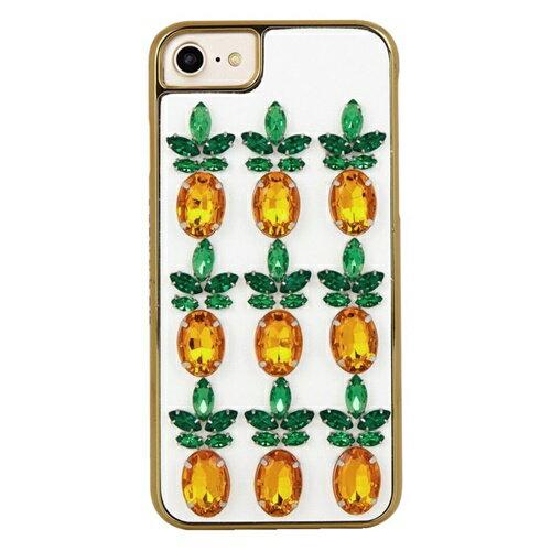 アウトレット SKINNYDIP iphone8 iphone7 iphone6s iphone6 ケース ビジュー おしゃれ スキニーディップ PINEAPPLE GEM かわいい パイナップル ジェム キラキラ カバー iphoneケース アイフォンケース 可愛い お洒落 保護フィルム セット 海外ブランド