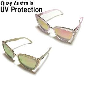 Quay Eyeware Australia キーアイウェアオーストラリア サングラス mygirl pearl gold ・pink pink ミラーレンズ 可愛いキャッツアイサングラス ゴールド ピンク 2色からお選びください UVカット 紫外線カット 人気 おしゃれ お洒落 かわいい 海外ブランド