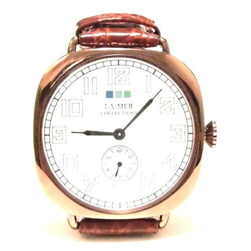 セール LAMERCOLLECTIONS ラメールコレクション vintage watch brown copper ブラウン コッパー お洒落な時計 革ベルト 男女兼用 おしゃれ アナログ 大きめ文字盤 簡単操作 うで時計 茶色 値下げ セール 補償期限切れ 海外 ブランド