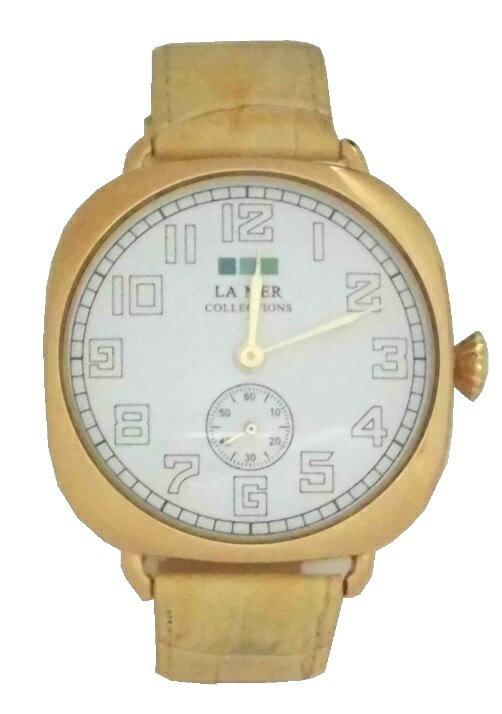 LAMERCOLLECTIONS ラメールコレクション 腕時計 Oversize vintage watch camel gold キャメル ゴールド おしゃれ かわいい レディース 革ベルト レザーベルト アメリカ 海外 ブランド メーカー保障切れ
