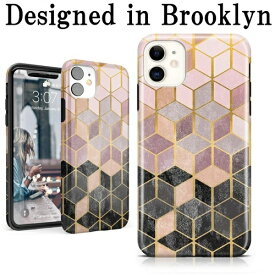 iphone11 ケース 幾何学 大理石 TPU ローズゴールド おしゃれ Geo Rose Gold Marble iPhone Case 背面ケース かわいい アイフォン11 ケース アイフォーン11 カバー スマホケース tpuケース かっこいい 個性的 海外ブランド