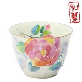 和藍 花ことば 煎茶 (単品)バラ | おしゃれ 日本製夫婦 いい夫婦の日 カップ 誕生日 家族 美濃焼 陶器 お揃い 還暦祝い かわいい 祖父 祖母 誕生日プレゼント 湯のみ 湯呑み 湯呑 湯飲み 来客用 食器 セラミック藍