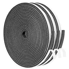 隙間テープ 窓用すき間ふさぎ フォーム絶縁テープ 緩衝材 戸あたり スポンジ 発泡ゴム 雨防止 6mm (幅) x 3mm (厚さ) x 5m (長さ) x