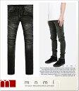 (ミニマル) mnml M14 STRETCH DENIM BLACK (LS:PANTS)(COLOR:BK) ボトムス ロングパンツ ジーンズ ストレッチデニム ブラック バイカー…