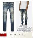 (ミニマル) mnml M14 STRETCH DENIM BLUE (LS:PANTS)(COLOR:BL) ボトムス ロングパンツ ジーンズ ストレッチデニム ブルー バイカー 国…