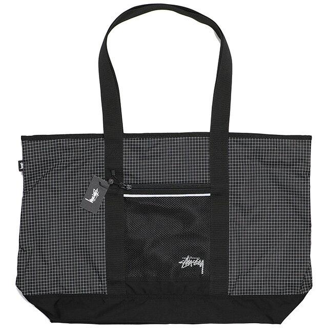 (ステューシー) STUSSY RIPSTOP NYLON TOTE BAG (BAG)(134186:BK) バッグ 鞄 リュック トート 国内正規品