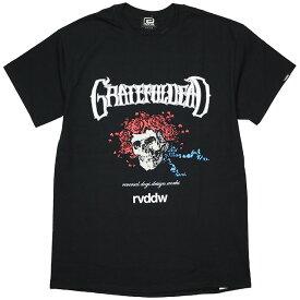 (リバーサル) REVERSAL×GRATEFUL DEAD SKULL & ROSES TEE (SS:TEE)(rvgd004-BK) Tシャツ 半袖 グレイトフル・デッド 国内正規品