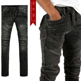(ミニマル) mnml M14 STRETCH DENIM BLACK (LS:PANTS)(COLOR:BK) ボトムス ロングパンツ ジーンズ ストレッチデニム ブラック バイカー 国内正規品