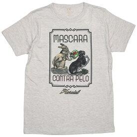 (ハオミン) HAOMING×ANIMAL MASCARA CONTRA PELP TEE (SS:TEE)(1802-72-OA) Tシャツ 半袖 カットソー ウサギ 国内正規品