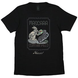 (ハオミン) HAOMING×ANIMAL MASCARA CONTRA PELP TEE (SS:TEE)(1802-72-BK) Tシャツ 半袖 カットソー ウサギ 国内正規品