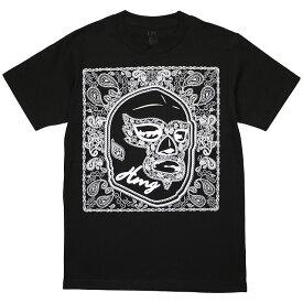 (ハオミン) HAOMING MASK PAISLEY TEE (SS:TEE)(1834-42-BK) Tシャツ 半袖 カットソー 国内正規品