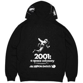 (ハードコアチョコレート) HARDCORE CHOCOLATE 2001年宇宙の旅プルオーバーパーカー (a space odysseyブラック)(HOODED)(P-1323MS-BK) スウェット パーカー プルオーバー スタンリー・キューブリック ワーナー・ブラザース SF映画 国内正規品