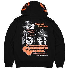 (ハードコアチョコレート) HARDCORE CHOCOLATE 時計じかけのオレンジプルオーバーパーカー (Droogブラック)(HOODED)(P-1317MS-BK) スウェット パーカー プルオーバー スタンリー・キューブリック ワーナー・ブラザース SF映画 国内正規品