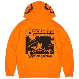 (ハードコアチョコレート) HARDCORE CHOCOLATE 時計じかけのオレンジ ZIPパーカー (A Clockwork Orangeオレンジ)(ZIP HOOD)(P-1318MS-OR) スウェット パーカー フルジップ スタンリー・キューブリック ワーナー・ブラザース SF映画 国内正規品