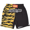 (モブスタイルス) MOBSTYLES MOSH PANTS HALF TIGER BLACK ZIPポケット付 (SS:PANTS)(COLOR:BK) ボトムス ショートパンツ ポケット有 …