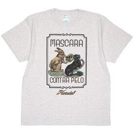(ハオミン) HAOMING×ANIMAL MASCARA CONTRA PELO TEE (SS:TEE)(1802-72-OA) Tシャツ 半袖 カットソー ウサギ 覆面剥ぎデスマッチ リニューアルモデル 国内正規品