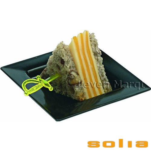 ソリア solia プレート 75×75mm 200枚入り(選べる3色)【ケータリング/プラスチック容器/使い捨て食器】【RCP】