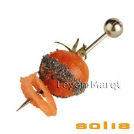 ソリア solia ピック シルバー 200本入り【ケータリング/プラスチック容器/使い捨て食器】