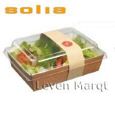 ソリア solia ランチボックス 1L 100個入り【ケータリング/プラスチック容器/使い捨て食器】【RCP】