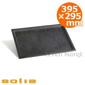 ソリア solia スレートトレイ 395×295mm ブラック 10枚【業務用/ケータリング/使い捨て食器】