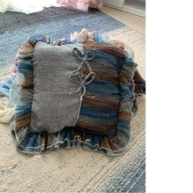 クッションカバー一つ、サイズ:45cm×45cmです。カラー:写真通りです#オリジナルデザイン、#北欧風、#フリル、#おしゃれ、#インテリア、#ソファー#送料込み