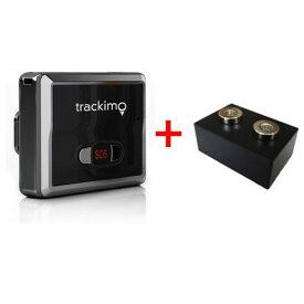 車両取付用強力磁石付ケース+リアルタイムGPS位置情報追跡装置本体セット trackimo(トラッキモ) GPSトラッカー Universalモデル(TRKM010)小型 1年間の通信費込 1年保証 みちびき対応最新モデル