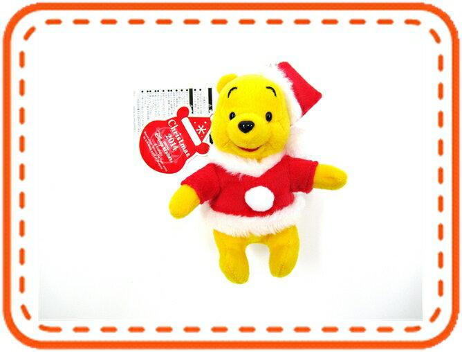 ディズニーグッズ 東京ディズニーリゾート限定 クリスマス2014 プーさん ぬいぐるみバッジ