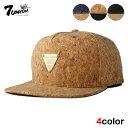 セブンユニオン 7UNION スナップバックキャップ 帽子 メンズ レディース コルク デニム フリーサイズ [ あす楽 ] [ bk…