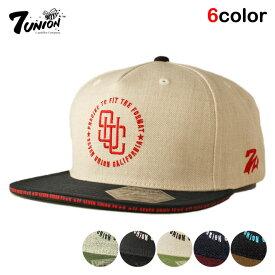 セブンユニオン 7UNION スナップバックキャップ 帽子 メンズ レディース フリーサイズ [ あす楽 ] [ wt gy bk ol ]