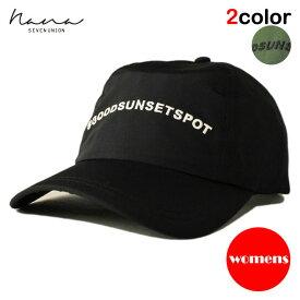 【女性用】 ナナ セブンユニオン NANA 7UNION ストラップバックキャップ 帽子 メンズ レディース フリーサイズ [ あす楽 ] [ bk ol ]