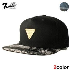 セブンユニオン 7UNION ストラップバックキャップ 帽子 メンズ レディース デニム フリーサイズ [ あす楽 ] [ bk nv ptn ]