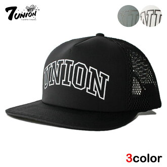 7UNION seven union mesh cap [hat cap snapback men gap Dis reflector adjustable size] [wt gy bk]