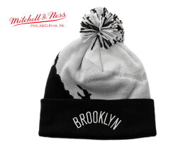 ミッチェル&ネス ニット帽 ビーニーキャップ 帽子 メンズ レディース MITCHELL&NESS NBA ブルックリン ネッツ ワンサイズ [ bk ]