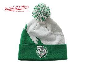 ミッチェル&ネス ニット帽 ビーニーキャップ 帽子 メンズ レディース MITCHELL&NESS NBA ボストン セルティックス ワンサイズ [ gn ]