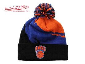 ミッチェル&ネス ニット帽 ビーニーキャップ 帽子 メンズ レディース MITCHELL&NESS NBA ニューヨーク ニックス ワンサイズ [ bk ]
