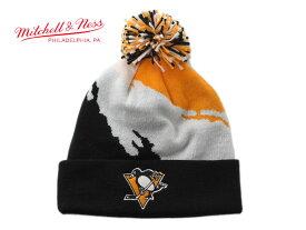 ミッチェル&ネス ニット帽 ビーニーキャップ 帽子 メンズ レディース MITCHELL&NESS NHL ピッツバーグ ペンギンズ ワンサイズ [ bk ]
