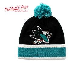 ミッチェル&ネス ニット帽 ビーニーキャップ 帽子 メンズ レディース MITCHELL&NESS NHL サンノゼ シャークス ワンサイズ [ bk ptn ]
