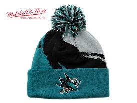 ミッチェル&ネス ニット帽 ビーニーキャップ 帽子 メンズ レディース MITCHELL&NESS NHL サンノゼ シャークス ワンサイズ [ lbe ]