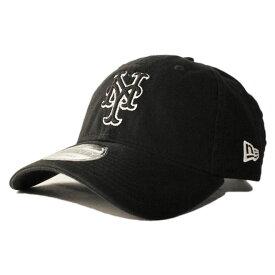 ニューエラ ストラップバックキャップ 帽子 NEW ERA 9twenty メンズ レディース MLB ニューヨーク メッツ フリーサイズ [ bk ]