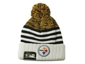 52acd8c4a70 ニューエラ ニット帽 ビーニーキャップ 帽子 メンズ レディース NEW ERA NFL ピッツバーグ スティーラーズ ワンサイズ