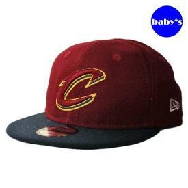 【子供用 幼児】 ニューエラ スナップバックキャップ 帽子 NEW ERA 9fifty ベビー NBA クリーブランド キャバリアーズ フリーサイズ [ rd ]