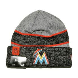 size 40 13801 45b19 ニューエラ ニット帽 ビーニーキャップ 帽子 メンズ レディース NEW ERA MLB マイアミ マーリンズ ワンサイズ
