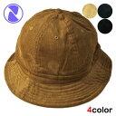 ニューハッタン ボーラーハット バケットハット 帽子 メンズ レディース NEWHATTAN 無地 シンプル コーデュロイ S/M L/XL [ bk nv lbw bn ]