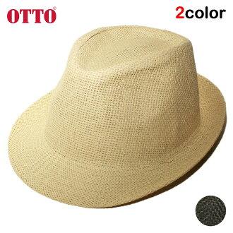 鄂图舒适之帽麦杆中的去帽子人分歧D OTTO素色简单的M-L[bk lbw]