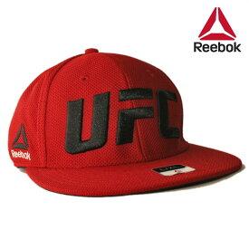 リーボック ユーエフシー コラボ ベースボールキャップ 帽子 メンズ レディース Reebok UFC S/M L/XL [ rd ]